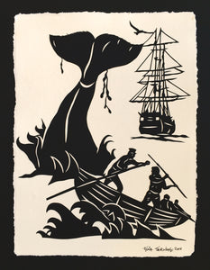 Moby Dick - Hand-Cut Silhouette