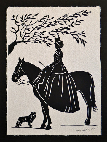 THE EQUESTRIENNE Papercut - Hand-Cut Silhouette