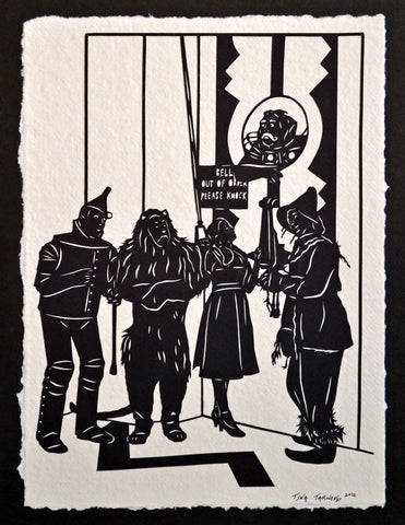 The WIZARD of OZ Papercut - Hand-Cut Silhouette