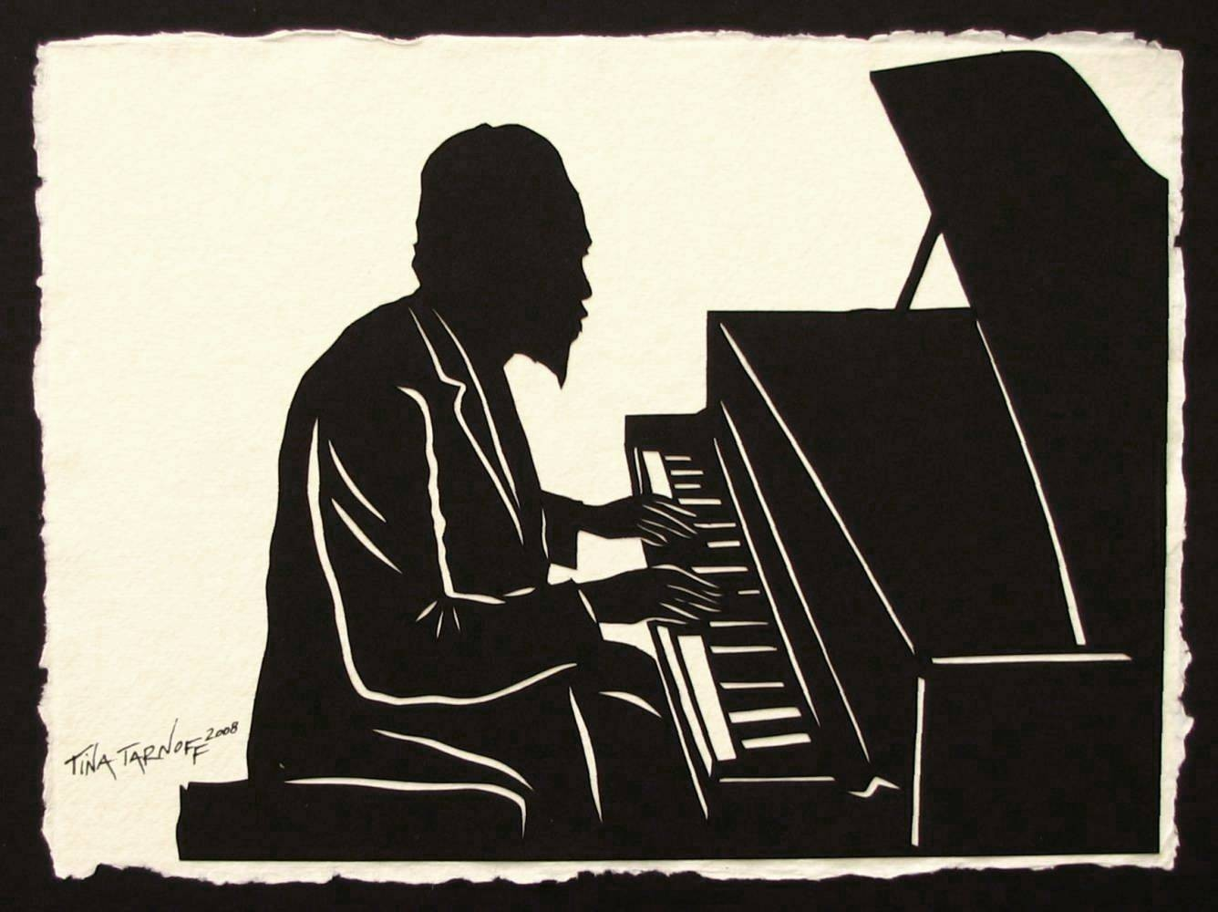 THELONIOUS MONK Papercut - Hand-Cut Silhouette