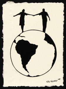 WORLD TOUR Papercut - Hand-Cut Silhouette