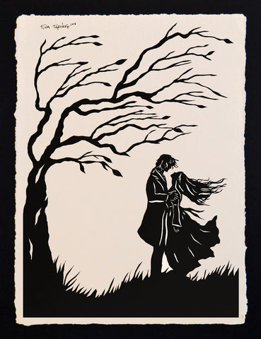 WUTHERING HEIGHTS Papercut - Hand-Cut Silhouette