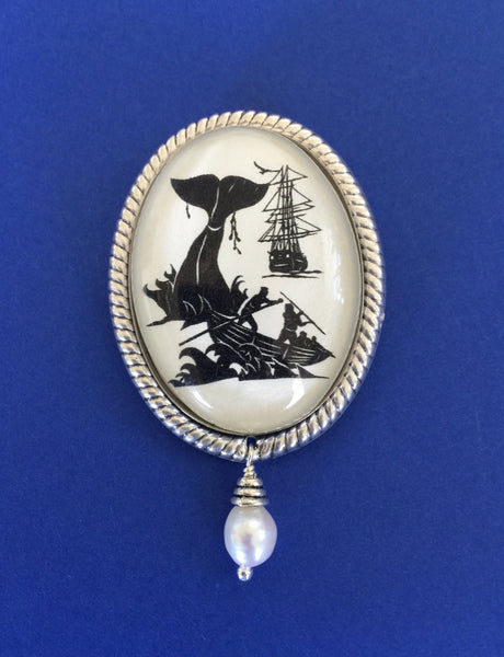 Moby Dick Brooch - Silhouette Jewelry