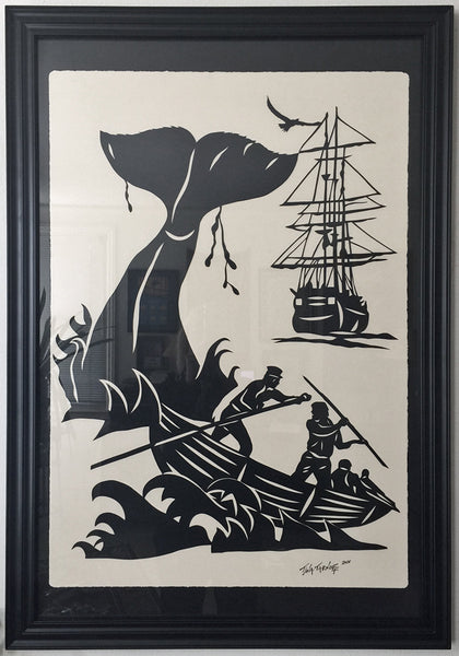 Moby Dick - Large Original Papercut, 24x36, Limited Collectors Edition