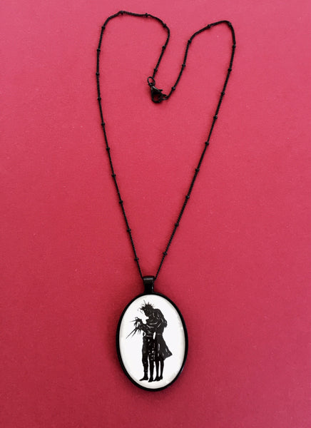 Edward Scissorhands Necklace - pendant on chain - Silhouette Jewelry