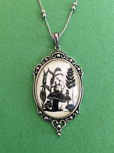 ALICE'S ADVENTURES in WONDERLAND Necklace - Advice from a Caterpillar, pendant on chain