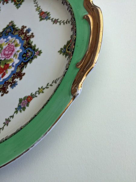 Vintage NORITAKE Porcelain Serving Plate Japan 1930s