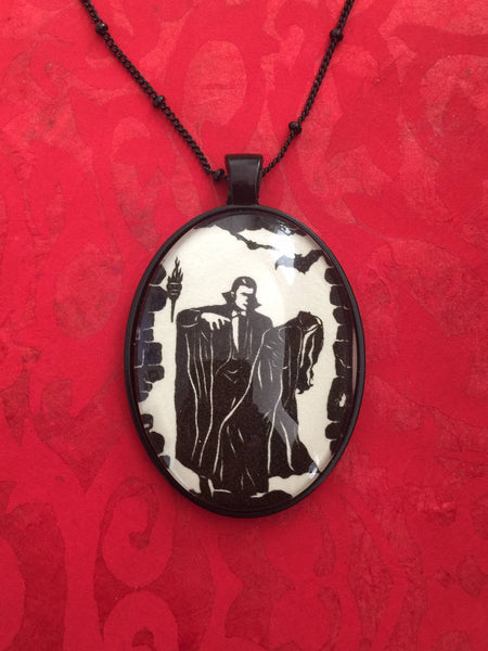 DRACULA Necklace - pendant on chain - Silhouette Jewelry