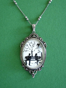 DIVINE INTERVENTION Necklace - pendant on chain - Silhouette Jewelry