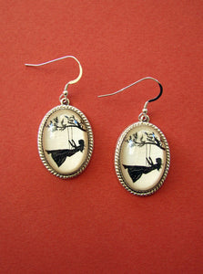 GIRL on a SWING Earrings - Silhouette Jewelry