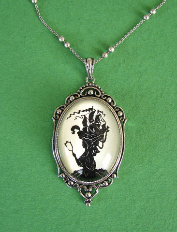MARIE ANTOINETTE Necklace, pendant on chain - Silhouette Jewelry
