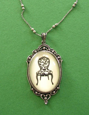 Louis XV Chair Necklace, pendant on chain