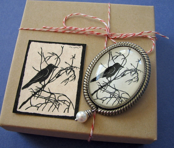 FOR the LOVE of CROWS Brooch - Silhouette Jewelry