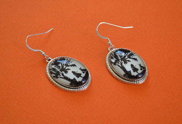 ALICE IN WONDERLAND Earrings - Silhouette Jewelry