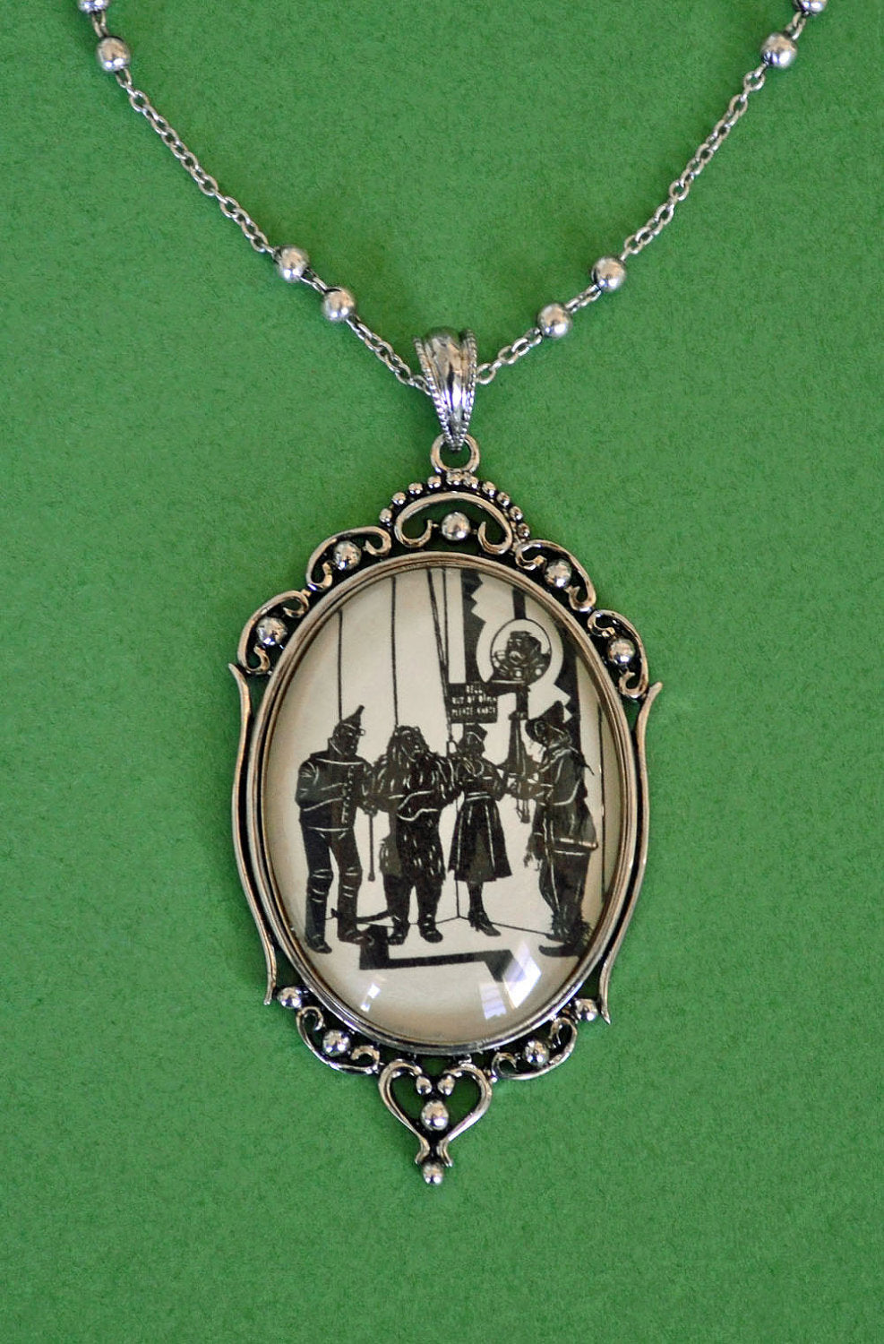 The WIZARD of OZ Necklace, pendant on chain - Silhouette Jewelry