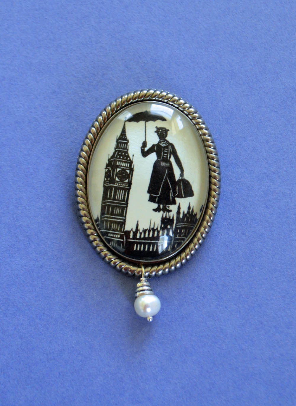 MARY POPPINS Brooch - Silhouette Jewelry