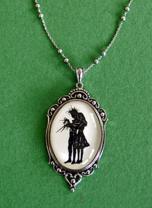 EDWARD SCISSORHANDS No. 1 Necklace, pendant on chain - Silhouette Jewelry
