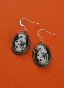 ALICE IN WONDERLAND Earrings - Down the Rabbit Hole - Silhouette Jewelry
