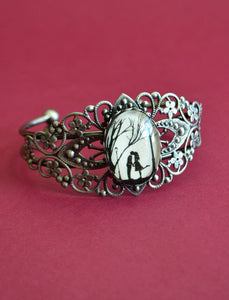 AUTUMN KISS Bracelet - Silhouette Jewelry , Filigree Bangle