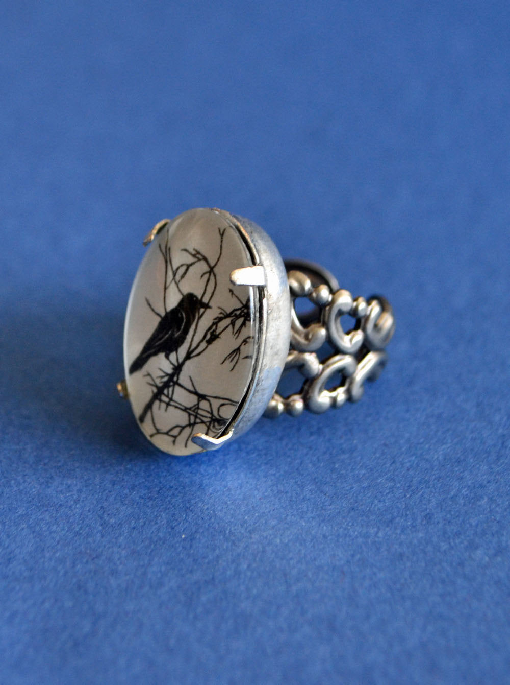 For the Love of Crows Ring