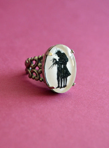 EDWARD SCISSORHANDS Ring - Silhouette Jewelry