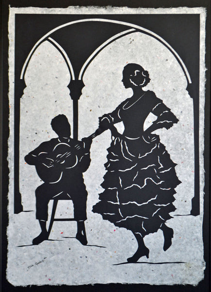 A NIGHT in SEVILLE - Large Original Papercut, 27x40, Limited Collectors Edition