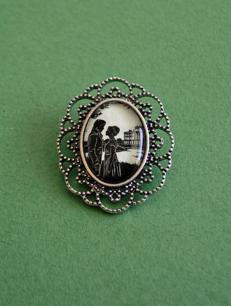 PRIDE AND PREJUDICE Brooch - Silhouette Jewelry