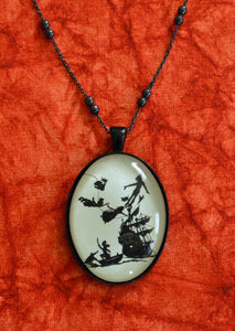 PETER PAN Necklace, pendant on chain - Silhouette Jewelry