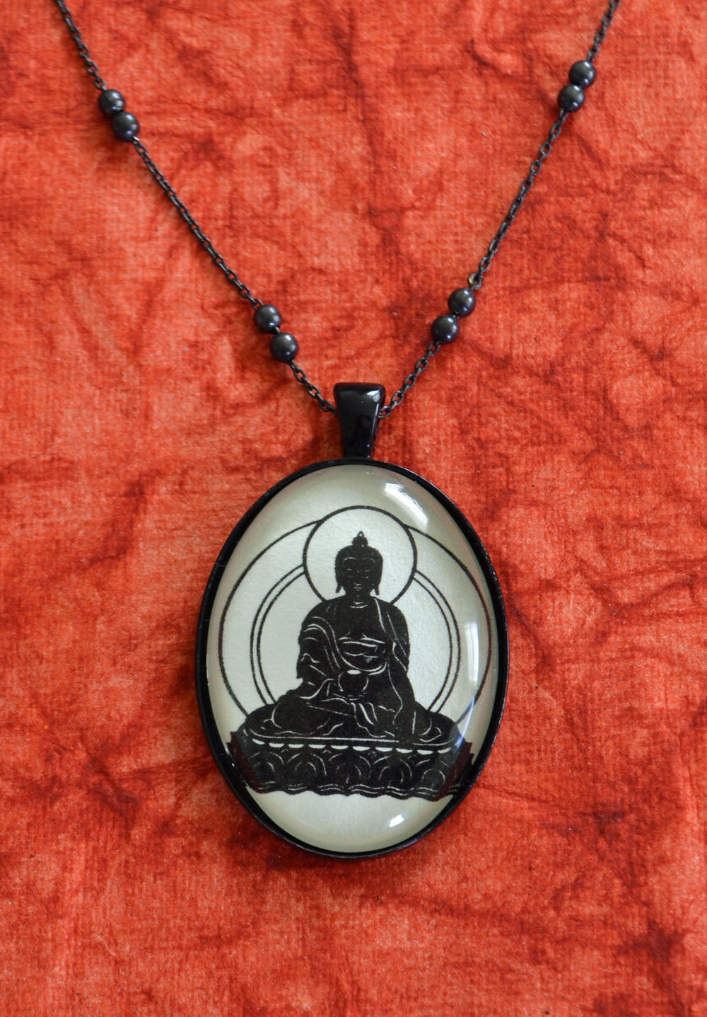 BUDDHA Necklace, pendant on chain - Silhouette Jewelry