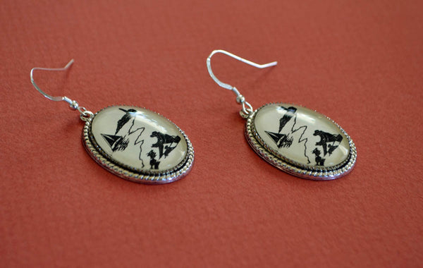 AFTERNOON READING on the BEACH Earrings - Silhouette Jewelry
