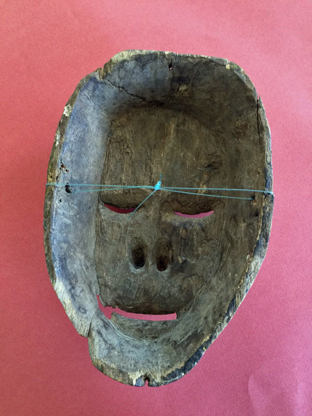 Antique Indonesian Mask, Vintage Wooden Mask