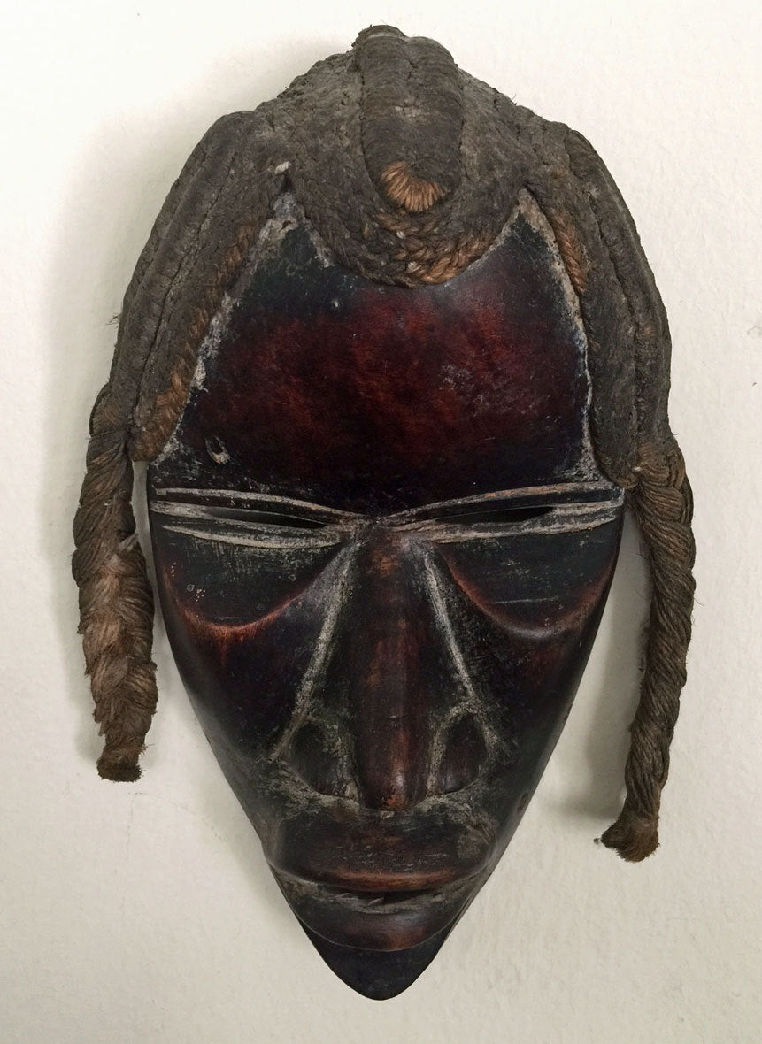 African Mask, Dan Tribe, Ivory Coast, Liberia, Wooden, Old
