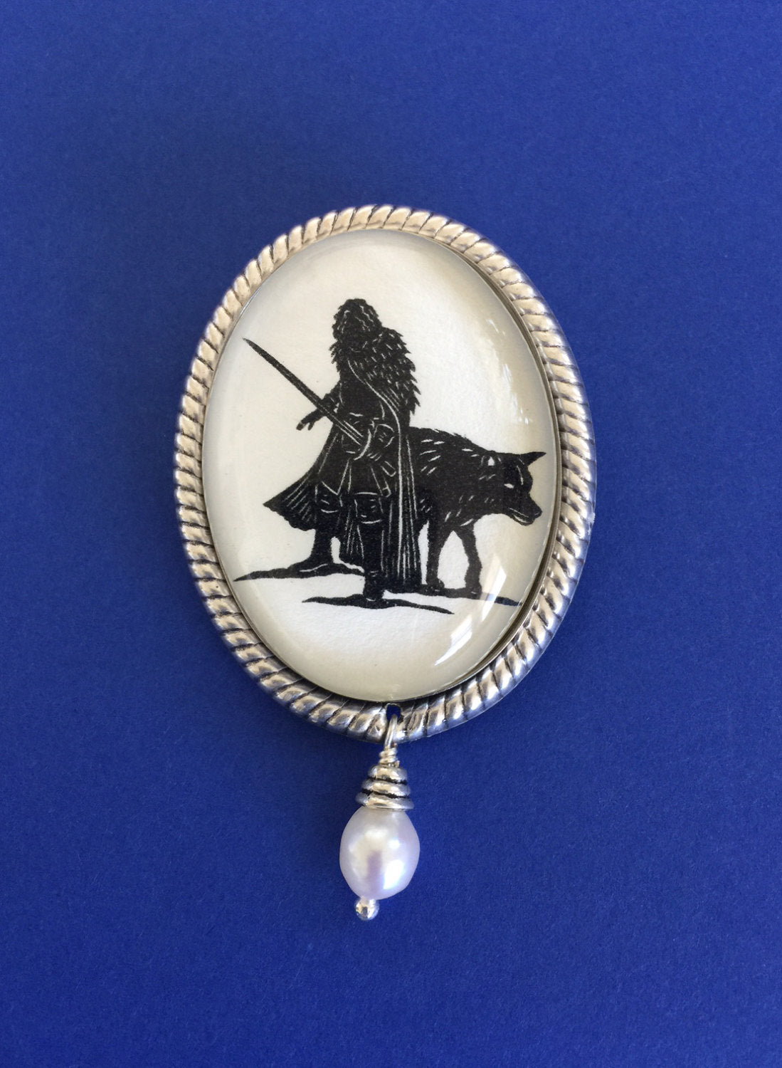 Game of Thrones Jon Snow Brooch - Silhouette Jewelry
