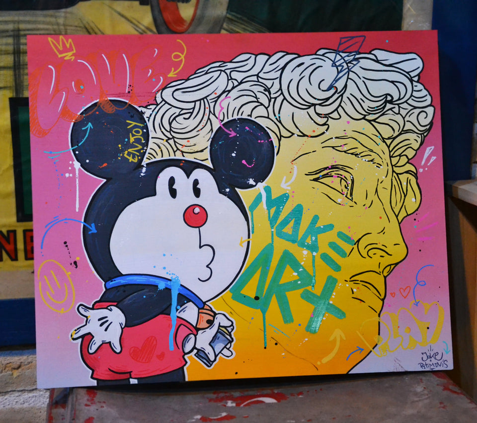 Make Art. Joke KPC. Obra Única. 50x60cm