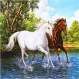 River Gallop 5D Diamond Painting Kit
