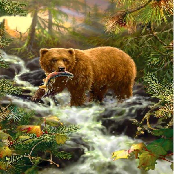 King Of The Forest 5D Diamond Painting Kit