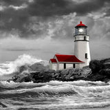 Stormy Sea Lighthouse 5D Diamond Painting Kit