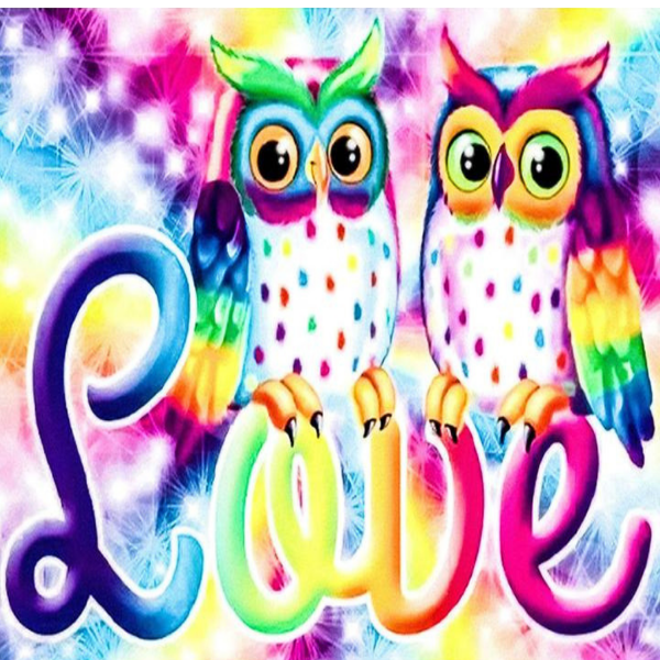 Love Owls 5D Diamond Painting Kit