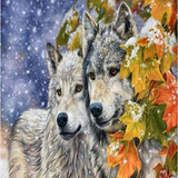 First Snow Wolves 5D Diamond Painting Kit