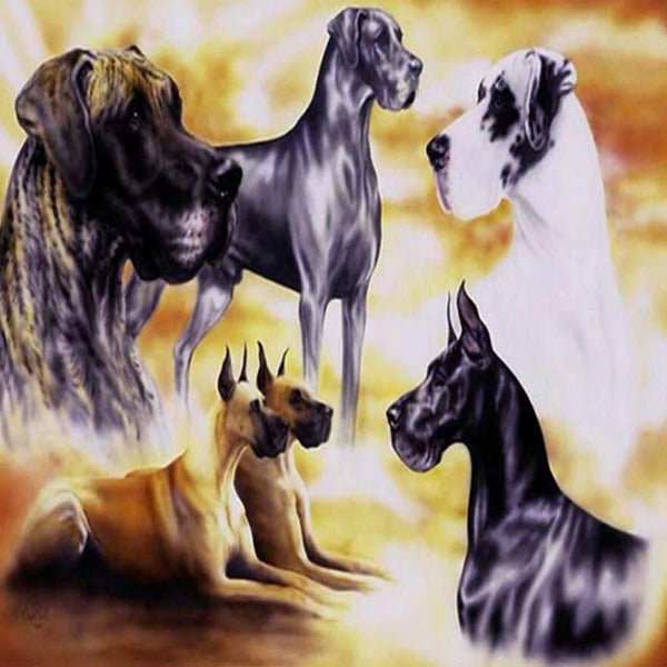 Majestic Great Danes 5D Diamond Painting Kit