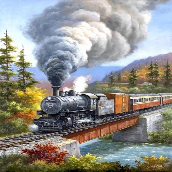 Railway Journey 5D Diamond Painting Kit