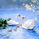 Swans Lake 5D Diamond Painting Kit