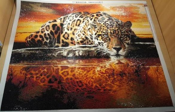 Thirsty Leopard 5D Diamond painting kit