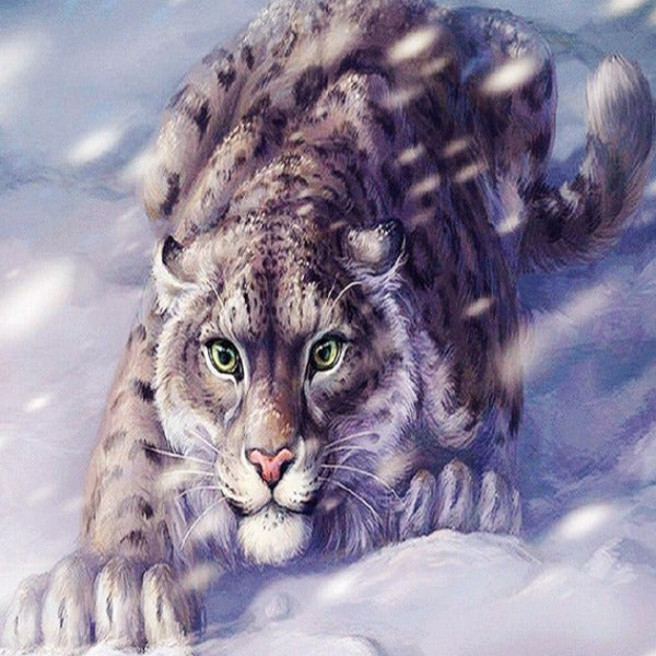 Snow Leopard 5D Diamond Painting Kit