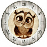 Owl Clock Face 5D Diamond Painting Kit