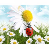Daisy Meadow Ladybug 5D Diamond Painting Kit
