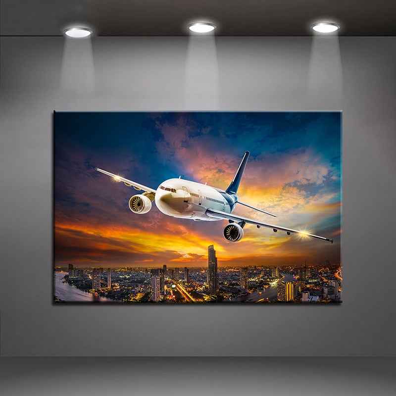 Flight Over The City 5D Diamond Painting Kit