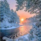Midwinter Evening 5D Diamond Painting Kit
