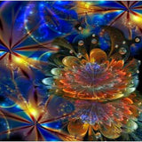Galactic Flowers 5D Diamond Painting Kit