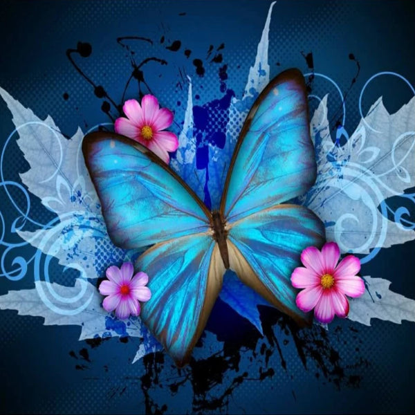 Turquoise Butterfly 5D Diamond Painting Kit